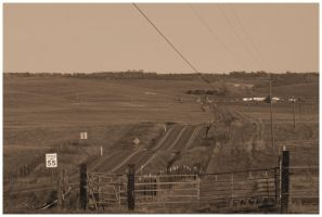 Country Road - Sepia by Bloody-Medium