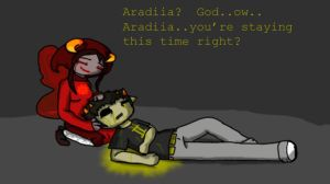aradia and sollux sadstuck yay by scopesam