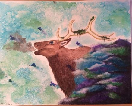 elk spirit of the past loved ones by mika525