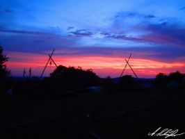Evening at campsite by Stratege