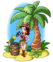Pauline in Donkey Kong Country by mattdog1000000