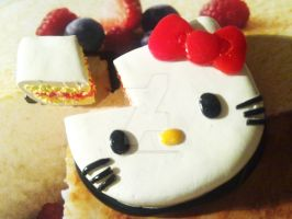 Polymer Clay : Hello Kitty Cake by CraftCandies