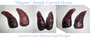 Costume Horns: Magma by HuntressLight