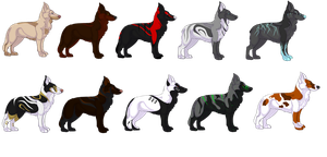 Canine Design Adoptables -Open- by jellybean12365