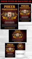 Poker Magazine Ads or flyers 3 by Hotpindesigns
