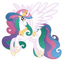 Celestia with weird mane by Stabzor