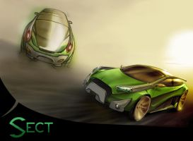 SECT car design by hanzabanza
