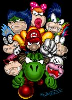 Super Mario World Koopalings by JFRteam