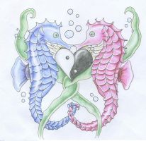 Seahorse Love by the-ultimate-irony