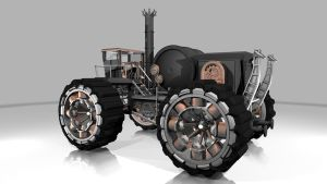 W.I.P. Steampunk Vehicle 02 by Uchrony