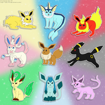 Pokemon: Eeveelution love by izka-197