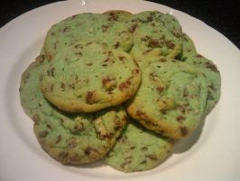 Mint Chocolate Chunk Cookies by CrossFade1105