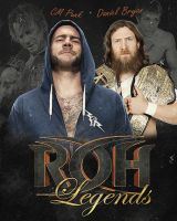 CM Punk and Daniel Bryan ROH Legends by RickSamas