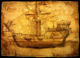 Old project of ship ,,Pequod''/ version II by elicenia