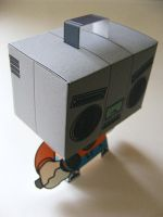 BoomBoxHead PaperToy by 231705