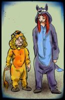 Tyrion and Sansa Onsies by kethryn
