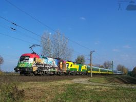Intercity train with Gysev locos in Gyor by morpheus880223