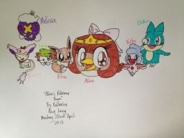 Alice's Pokemon Team by RussellMimeLover2009