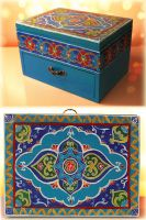 Uzbek painted box by sparkling-mica