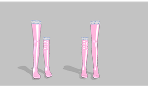 MMD One sock slid off -pack- DL by amiamy111