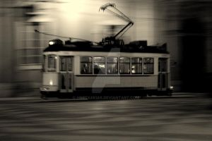tram..in night vision by horexakias