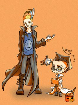 Halloween!: Colress and Dib by blacktenshi22