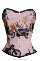 Pin up vintage bike corset by viogeminidesigns