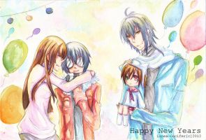 :: Adonis Family :: Happy New Years by Linea-Lucifer