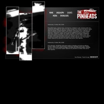 Pinheads Website Preview by dblock-dogan