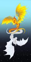 The Sun and the Moon (Speed Paint) by Deathdragon0593