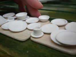 Miniature Dishes by vesssper