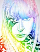 Lady Gaga in Colors by sunshinerin