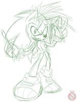 CM: Manic the hedgehog sketch by shadowhatesomochao
