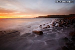 Misty water at Kimmeridge by GMCPhotographics
