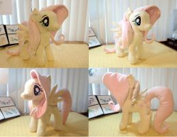 FlutterShy Plushie by EquestriaPlush