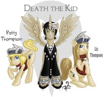 MLP Commission - Death, Liz, and Patty by alyssafew
