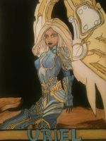 Uriel painted by angelofstrengh
