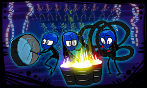 bluemangroup by DollCreep