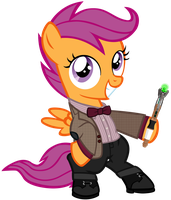Scootaloo as the 11th Doctor by SilverMapWolf