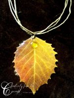 REAL LEAF Necklace Shimmer by CreativityFTCorrupt