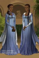 Jeyne and Jennalyn of House Fowler by DaenatheDefiant