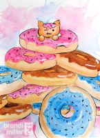 Donut Cat by Strange-1