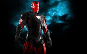 Iron Man Color Mix Black+Red by 666Darks
