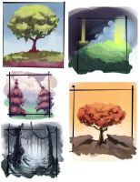 Landscape studies by Sormia