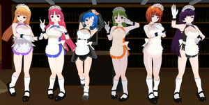 Doki Doki Vacation Girls maids by quamp