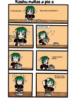 Kisshu makes a pie 2 by Gnomiee