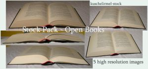 Stock Pack - Open Books by kuschelirmel-stock