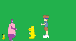 Marsupilami and Maurice meets Agumon and Tai by BuddyBoy600