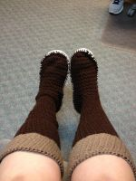 Crocheted Skyward Sword Zelda Boots by AngelAndChangeling
