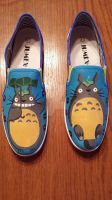 Totoro Shoes by zombie-pops